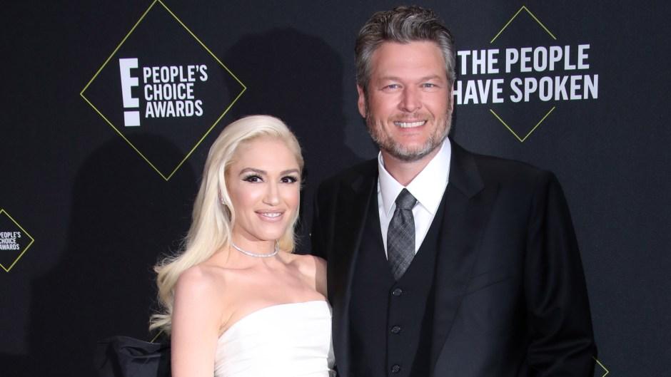 Gwen Stefani and Blake Shelton at the 2019 PCAs