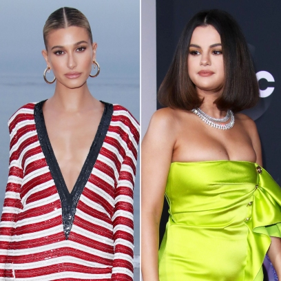 Hailey Baldwin 'Liked' a Photo of Selena Gomez's AMAs Glam
