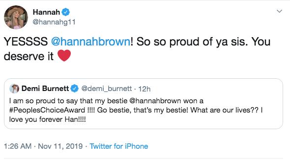Hannah Godwin Tweet
