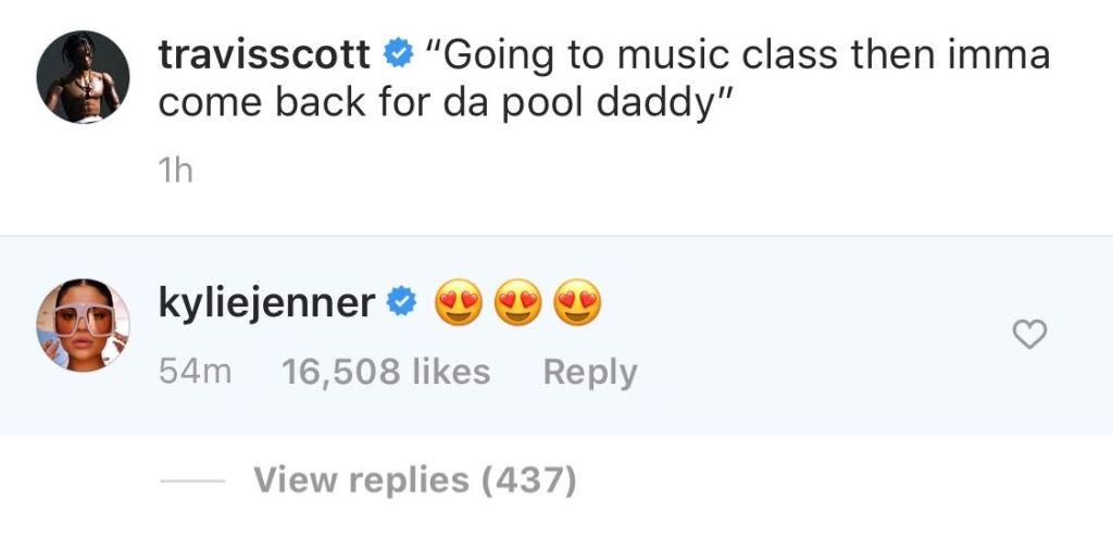 Kylie Jenner Shows Travis Scott Love on Instagram