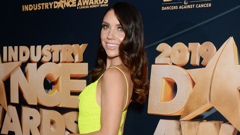 Jenna Johnson Dancing With the Stars in a Yellow Dress