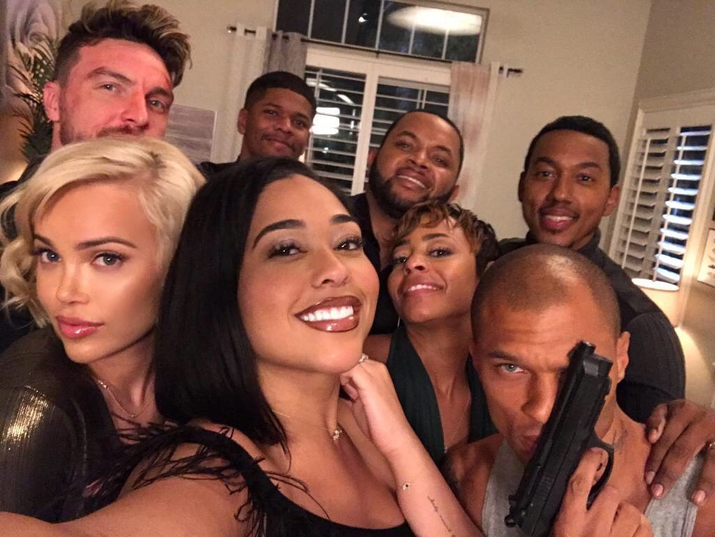 Jordyn Woods and Her Costars on the Set of Sacrificed