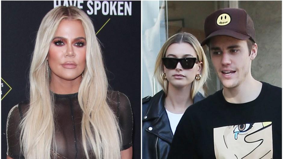 Khloe Kardashian Supports Justin Bieber and Hailey Baldwin