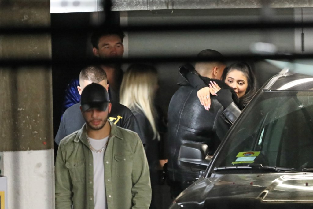 Kylie Jenner and Tyler Cameron are seen leaving the Poppy club at 2 A.M. in the morning
