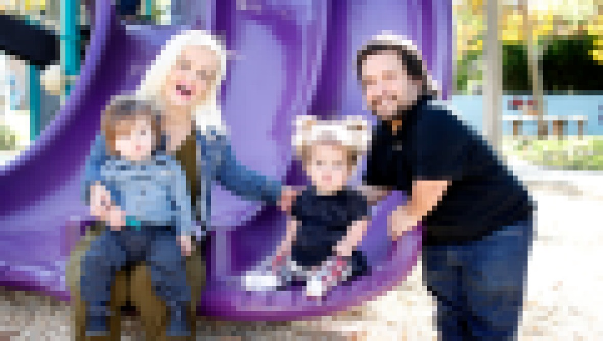 Terra Jole hangs out with her family Joe Gnoffo and children Grayson and Penelope pregnant with baby no. 3