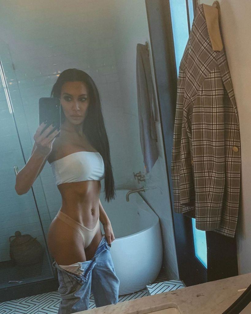 Naya Rivera Poses For a Revealing Bathroom Selfie