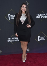 Deena Cortese Wearing a Black Dress