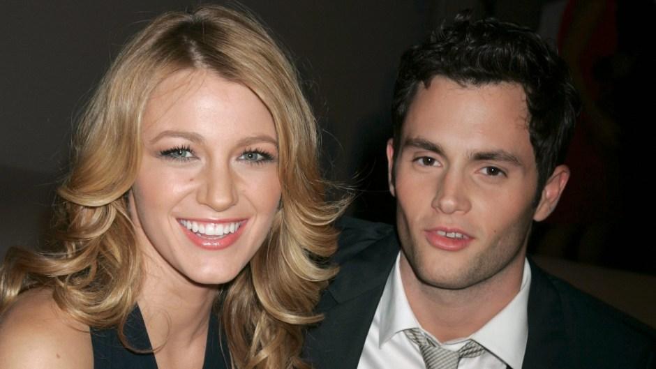 Blake Lively Posing With Penn Badgley in 2008
