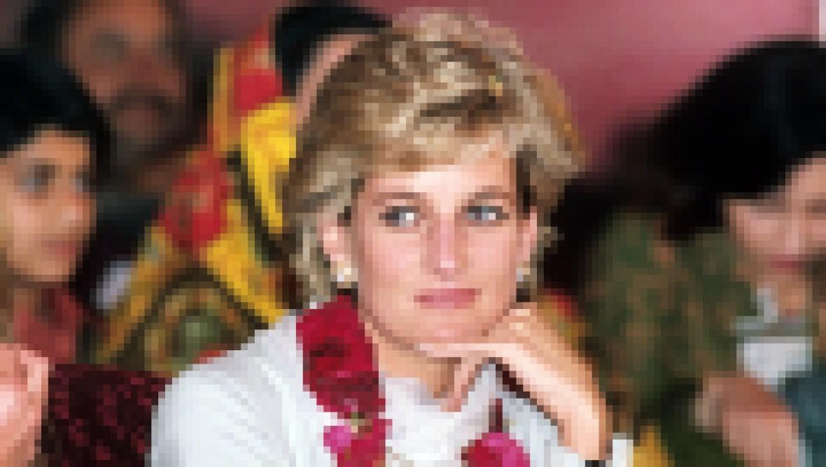 Princess Diana in Pakistan in 1995