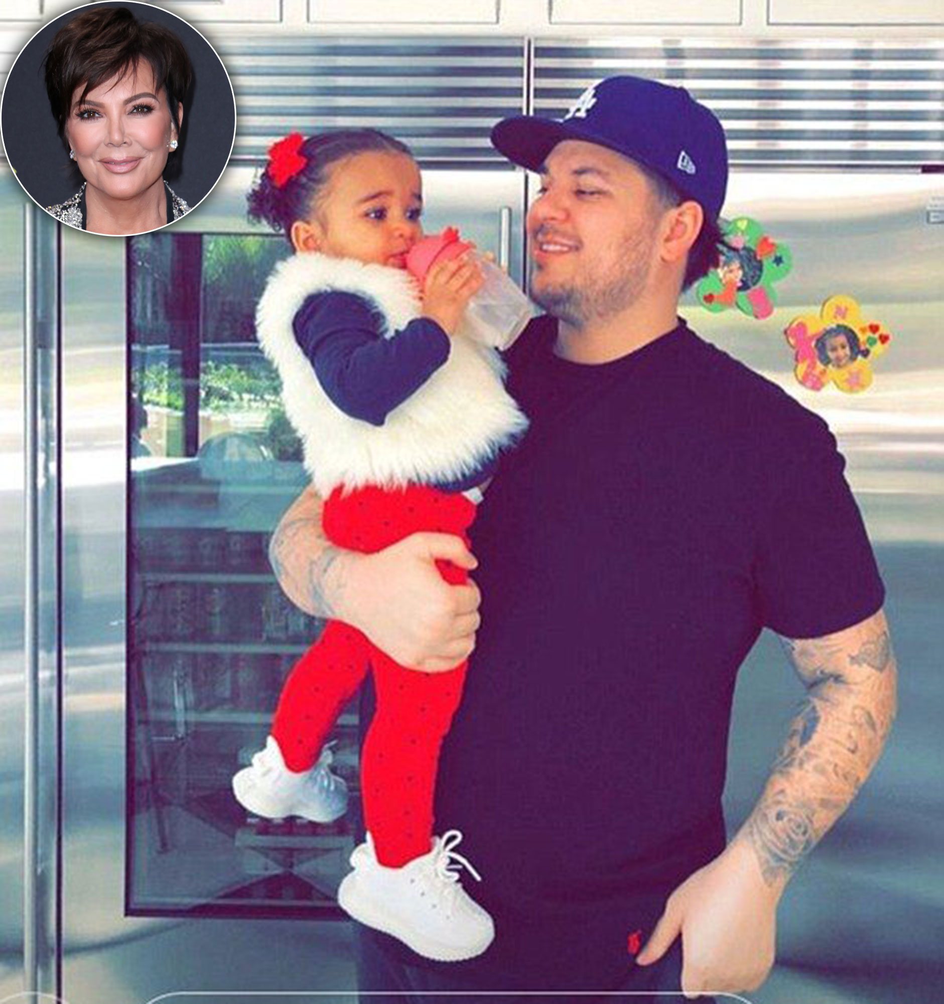 Rob Kardashian 'Takes Great Care' of Daughter Dream With Grandma Kris Jenner's Help: 'He Loves Her So Much'