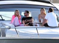 Scott Disick With Sofia Richie on a Boat in Miami With Their Friends
