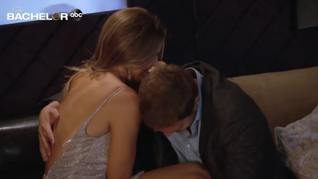 Peter Weber and Hannah Brown Romantic Moment on The Bachelor Trailer