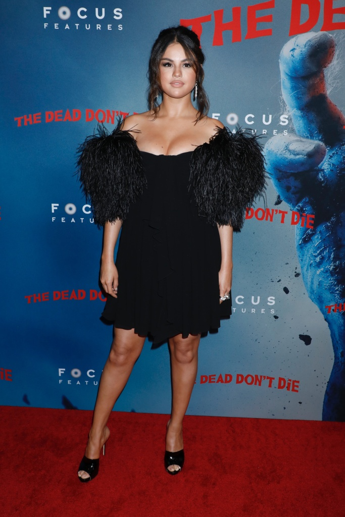 Selena Gomez Poses in a Little Black Dress at The Dead Don't Die Premiere