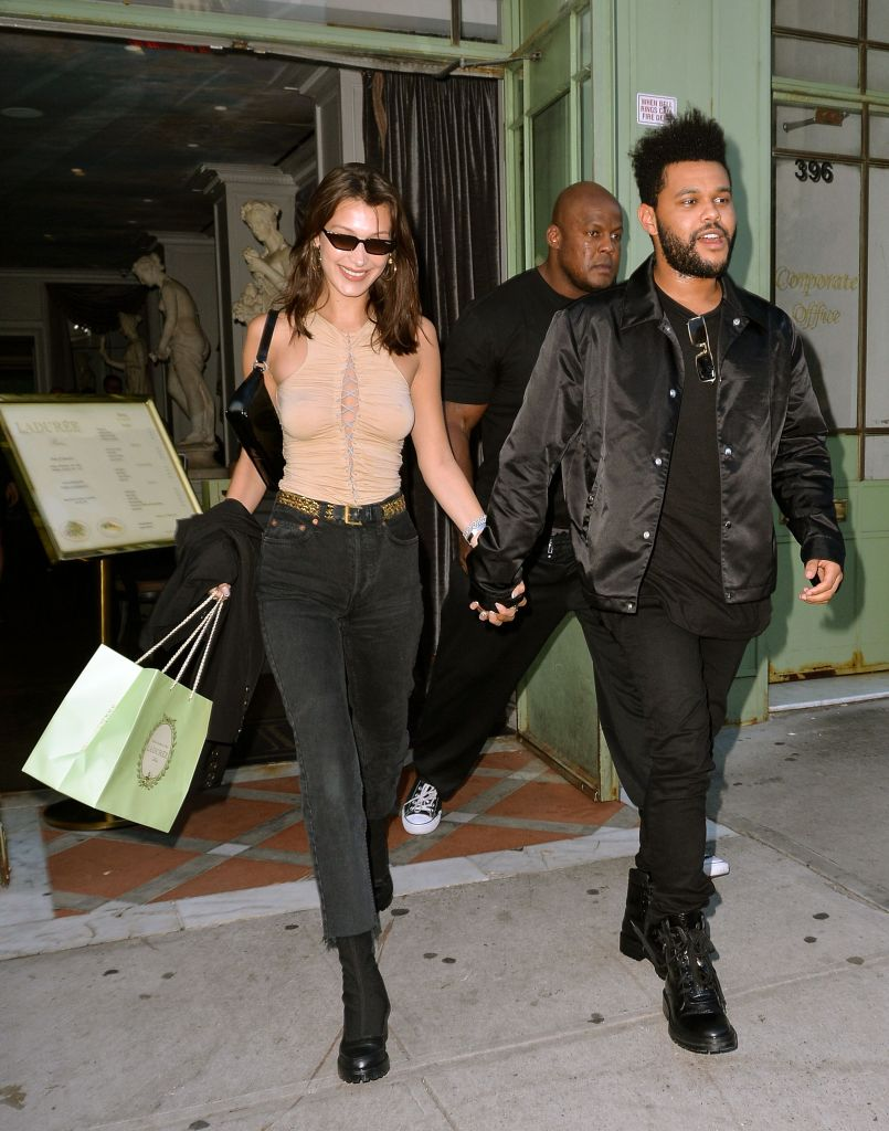 The Weeknd Holding Hands With Bella Hadid