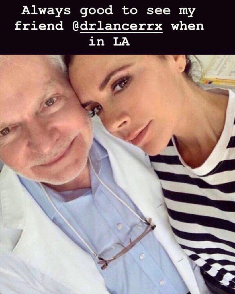 Dr. Harold Lancer and Victoria Beckham