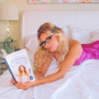 Brandi Glanville With Her Book
