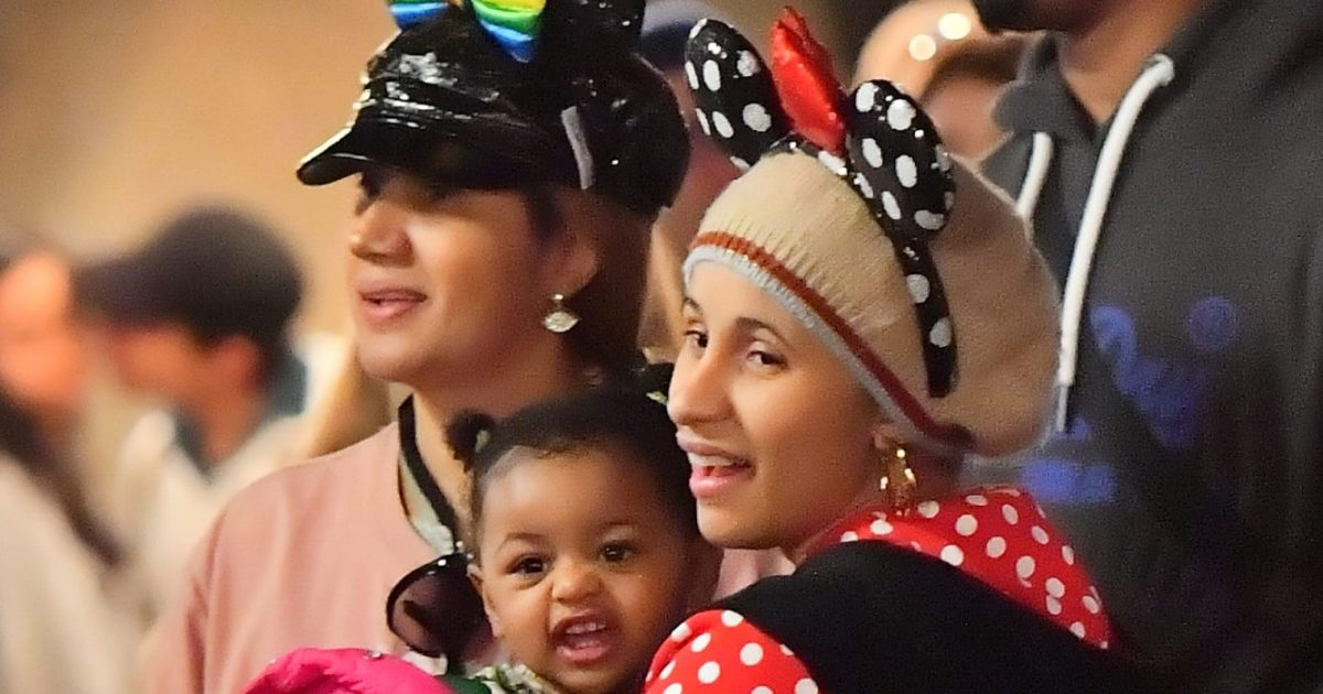 Cardi B Welcomes A Daughter With Rapper Offset: Cardi B And Daughter Kulture Have A Blast At Disneyland
