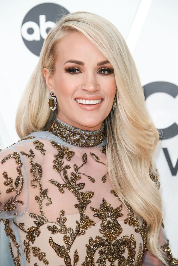 Carrie Underwood at CMAs 2019 red carpet