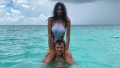 Emily Ratajkowski and Sebastian Bear-McClard in the Ocean