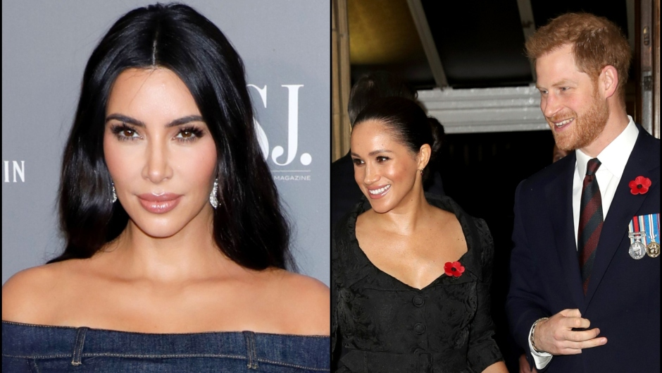 Kim Kardashian, Meghan Markle and Prince Harry