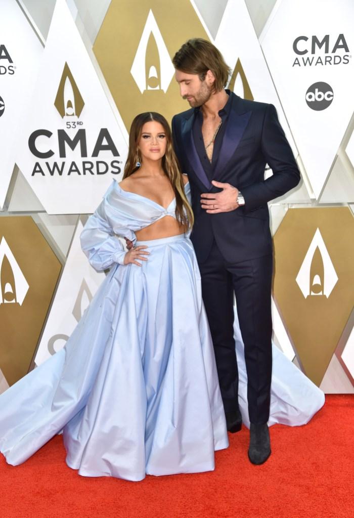 Maren Morris and Ryan Hurd at 2019 CMAs
