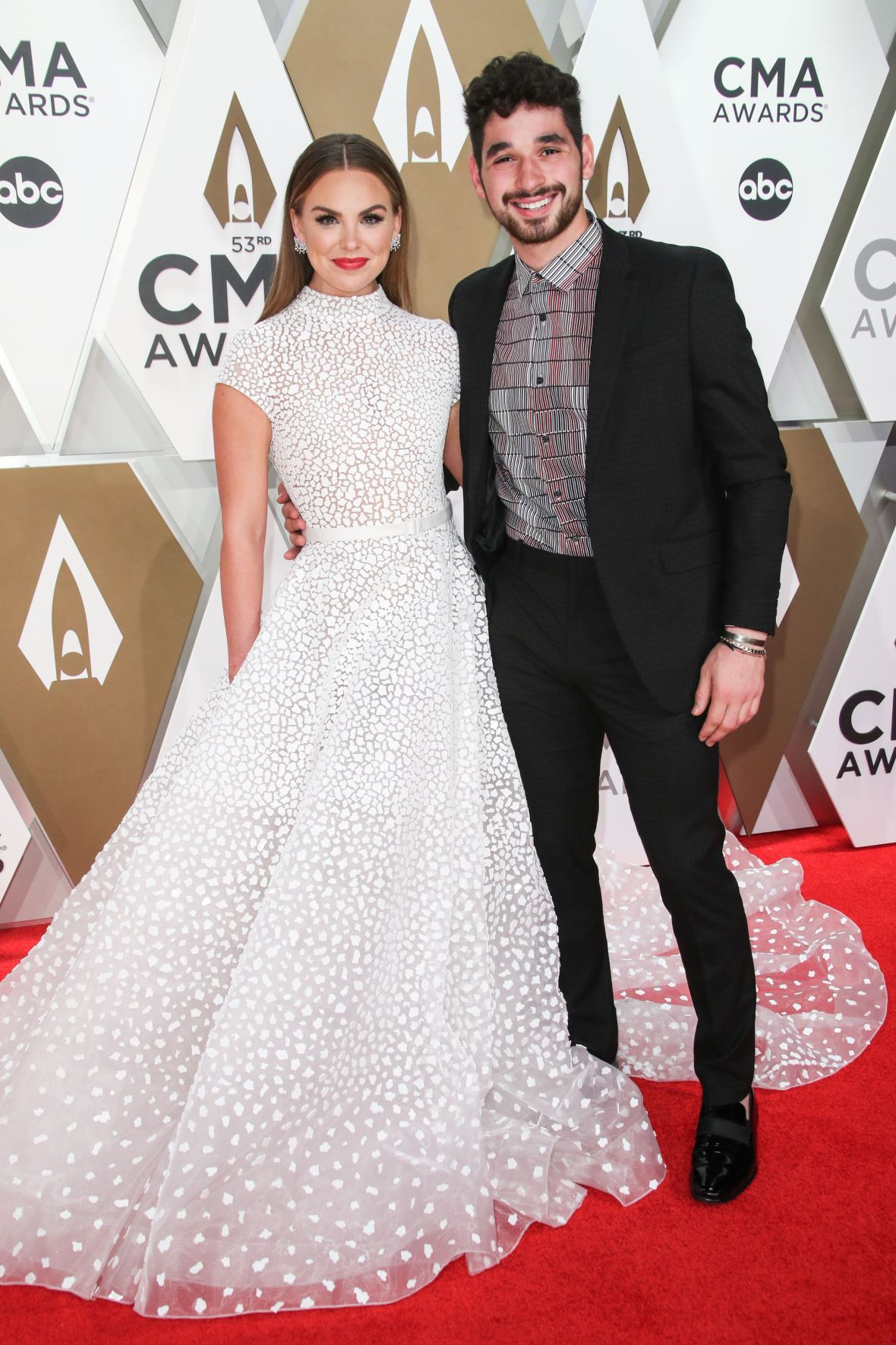 Hannah Brown and Alan Bersten CMAs Red Carpet