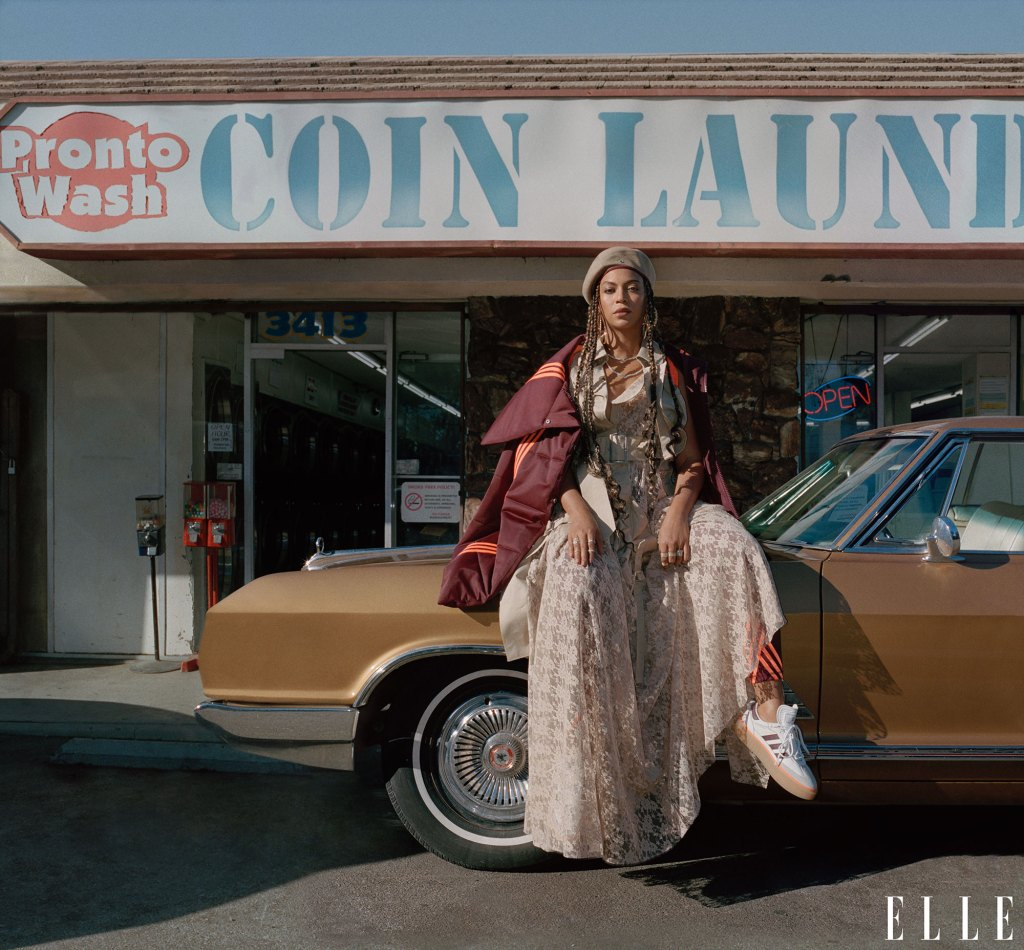 Beyonce on the cover and Inside Of Elle Magazine January 2020