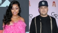 A Split Image of Blac Chyna and Rob Kardashian
