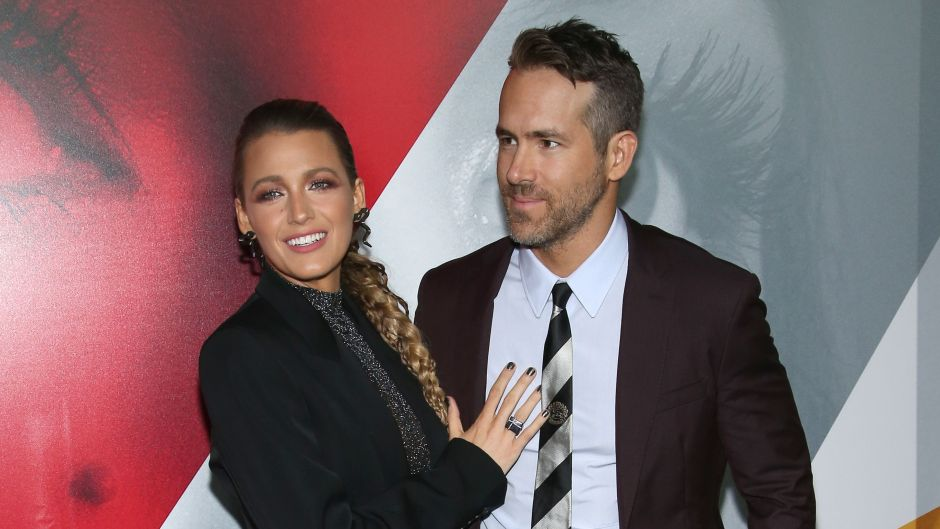 Blake Lively and Ryan Reynolds at the 'A Simple Favor' film premiere