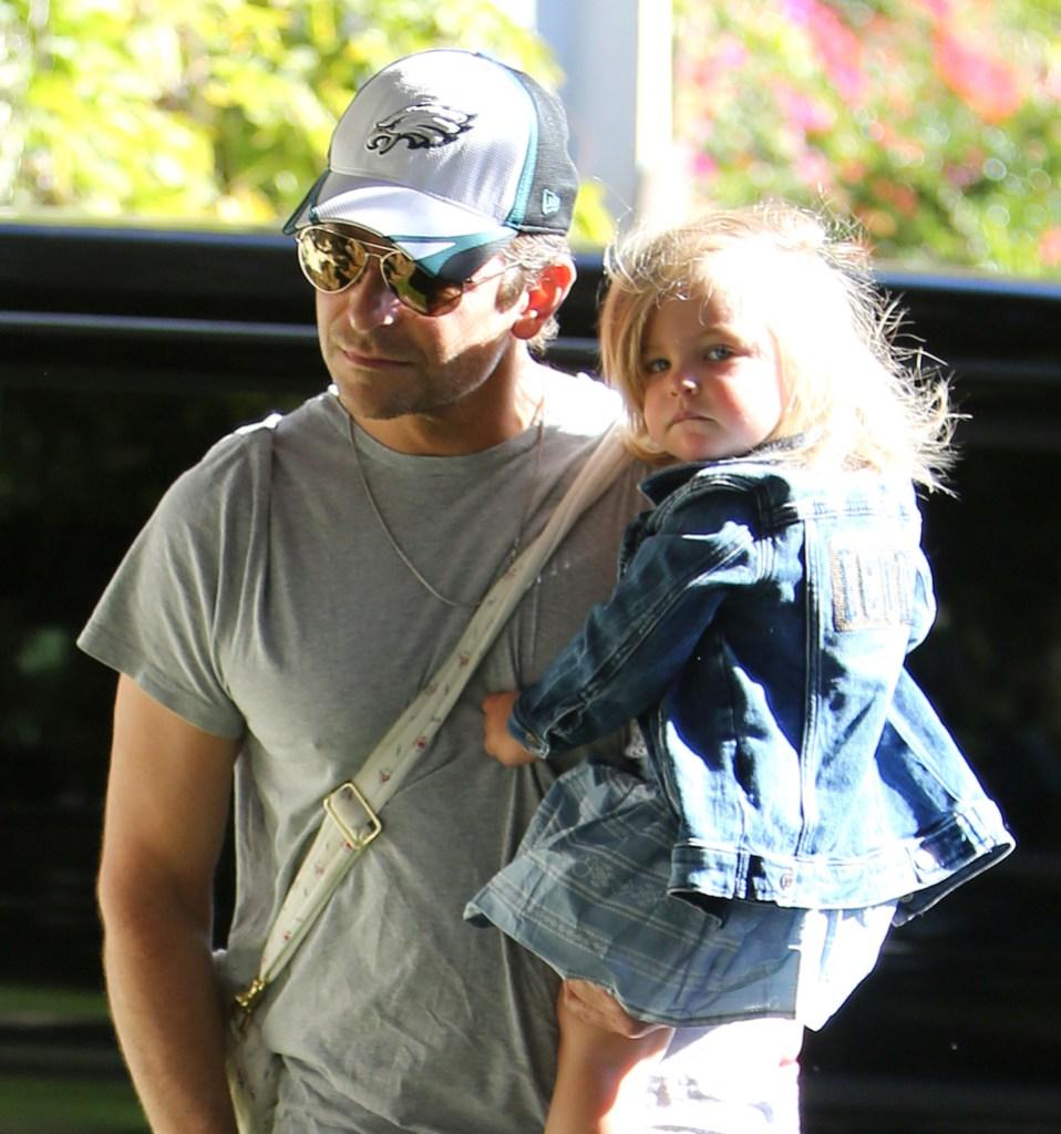 Bradley Cooper Carrying His Daughter, Lea