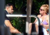 Britney Spears Dip Pool BF Sam Asghari Celebrate Birthday