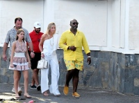 Kris Jenner and Corey Gamble in St. Bart's