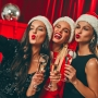 Girls Cheers With Champagne on New Year's Eve
