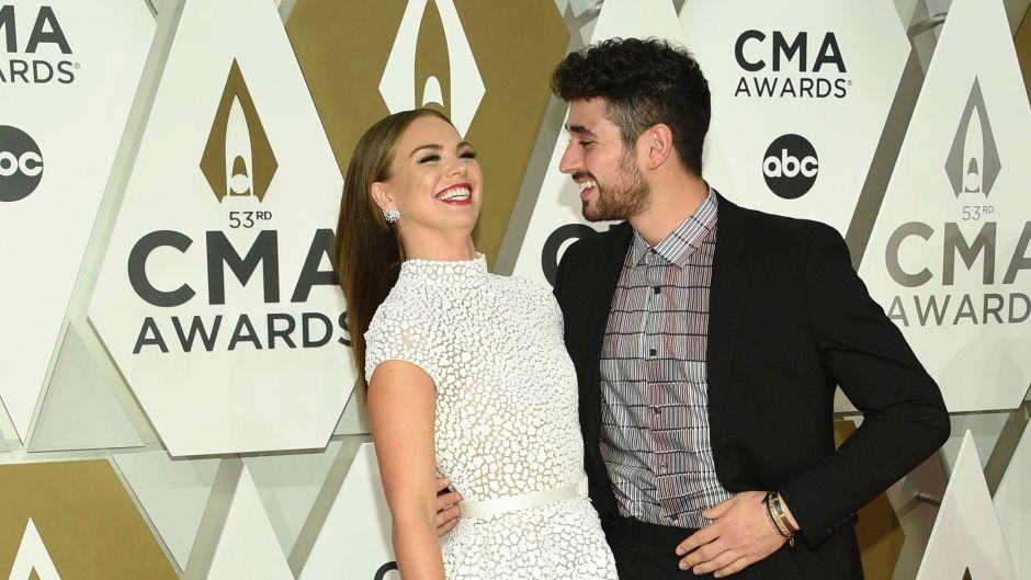 Hannah Brown and Alan Bersten at the CMA Awards