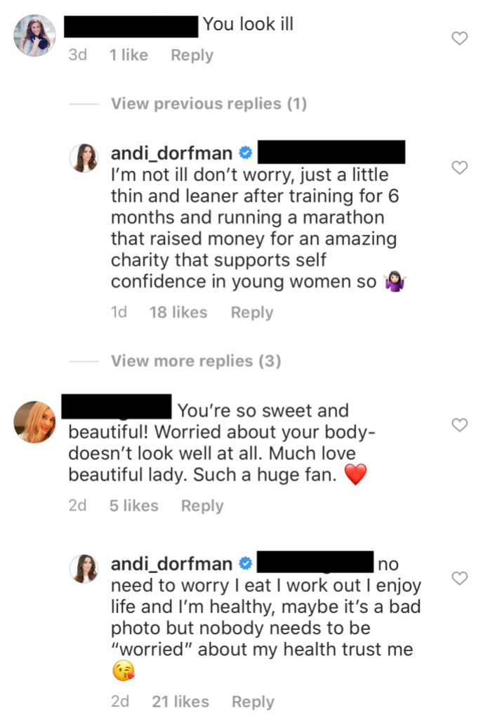 Andi Dorfman Responds to Comments About Her Weight