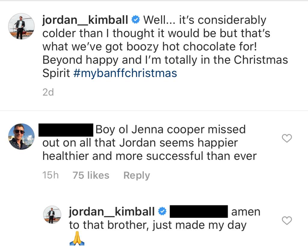Jordan Kimball Shades Jenna Cooper after Sharing Photo With New Girlfriend Christina