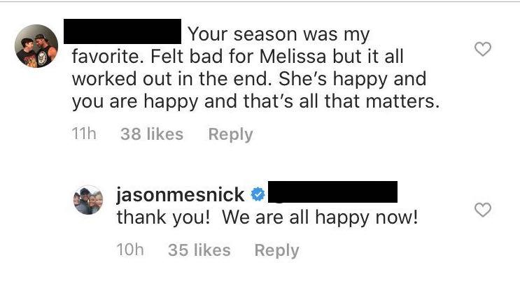 Jason Mesnick says Melissa Rycroft is happy