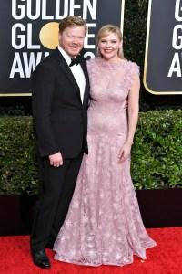 Jesse Plemons and Kirsten Dunst at the Golden Globes