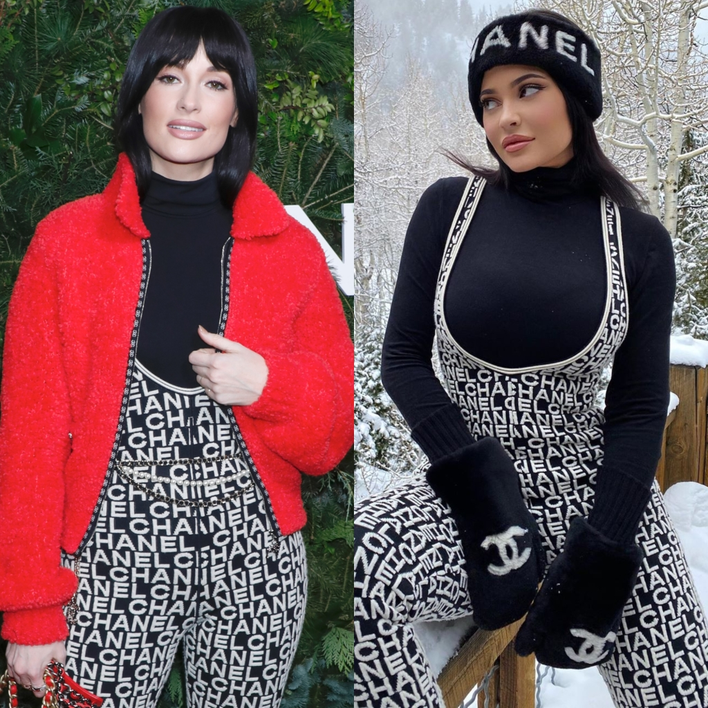A Split Image of Kacey Musgraves and Kylie Jenner Wearing the Same Chanel Jumpsuit