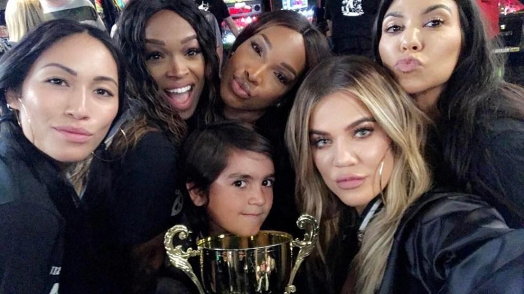 Khloe Kardashian With Mason, Khadijah Haqq and Malika Haqq