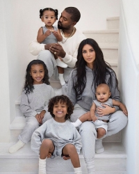 Kim Kardashian Admits North Is Photoshopped Into the Family Christmas Card