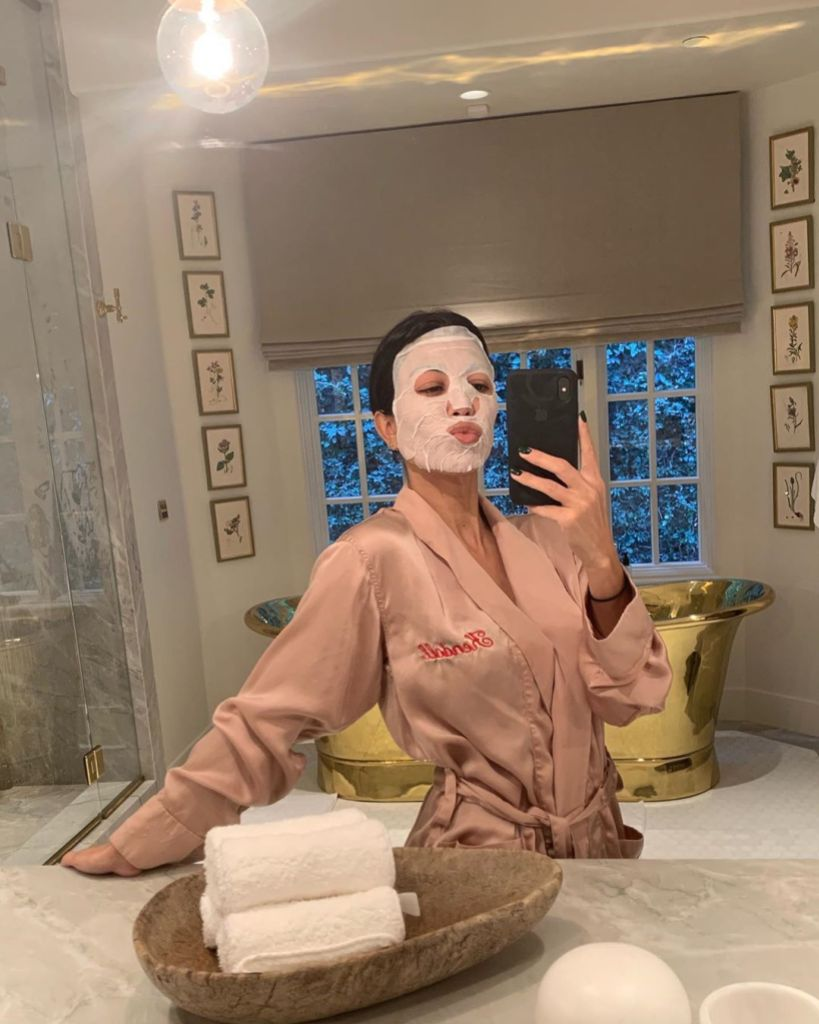 Kourtney Kardashian Selfie in a Face Mask