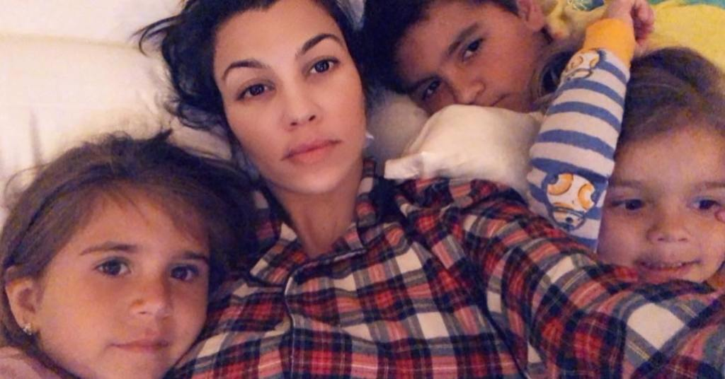 Kourtney Kardashian Snaps a Bedtime Selfie With Her 3 Kids