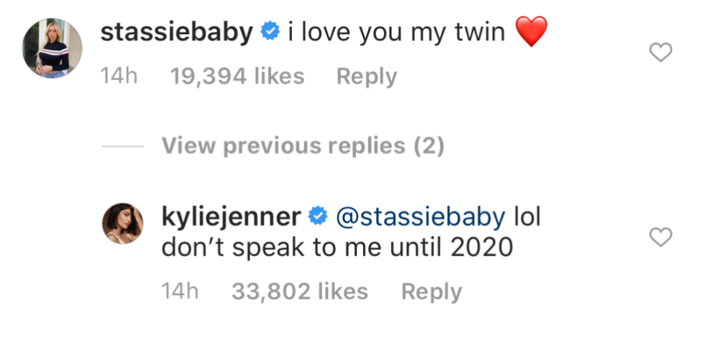 Kylie Jenner's IG Comments