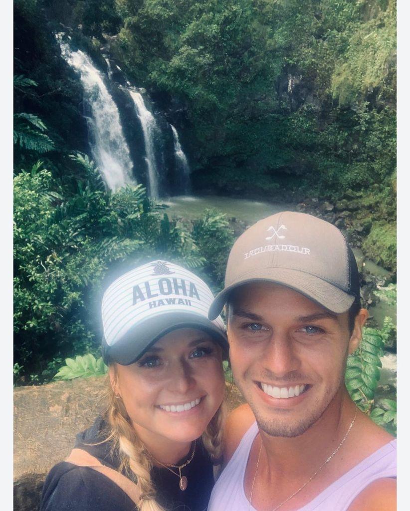 Miranda Lambert With Brendan McLoughlin With a Waterfall