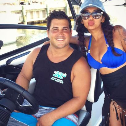 """Nicole """"Snooki"""" Polizzi Poses on a Boat With Husband Jionni LaValle"""