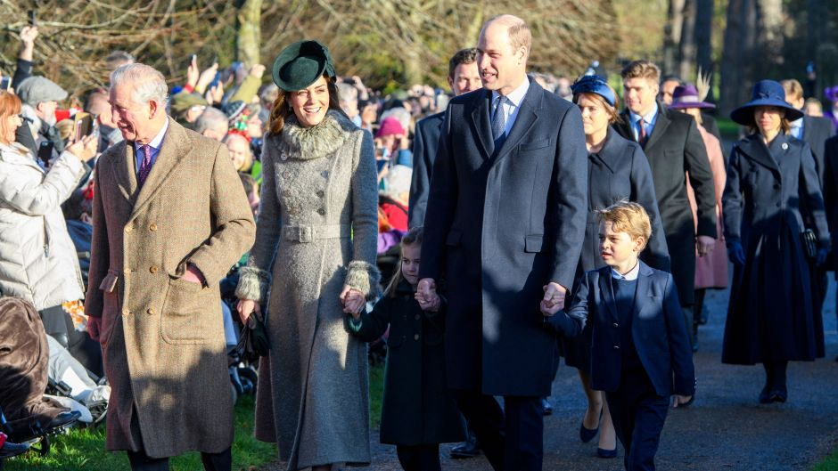 Prince George and Charlotte With Their Parents at Christmas