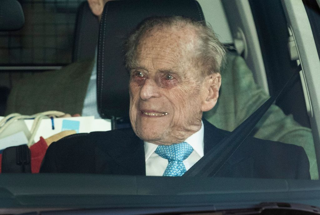 Prince Philip in the Front Seat of the Car