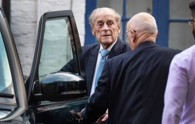 Prince Philip Getting Out of a Range Rover