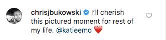 Chris Bukowski Comments on Katie Morton Split